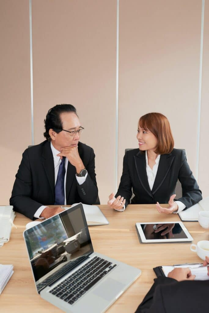 Meeting of top managers